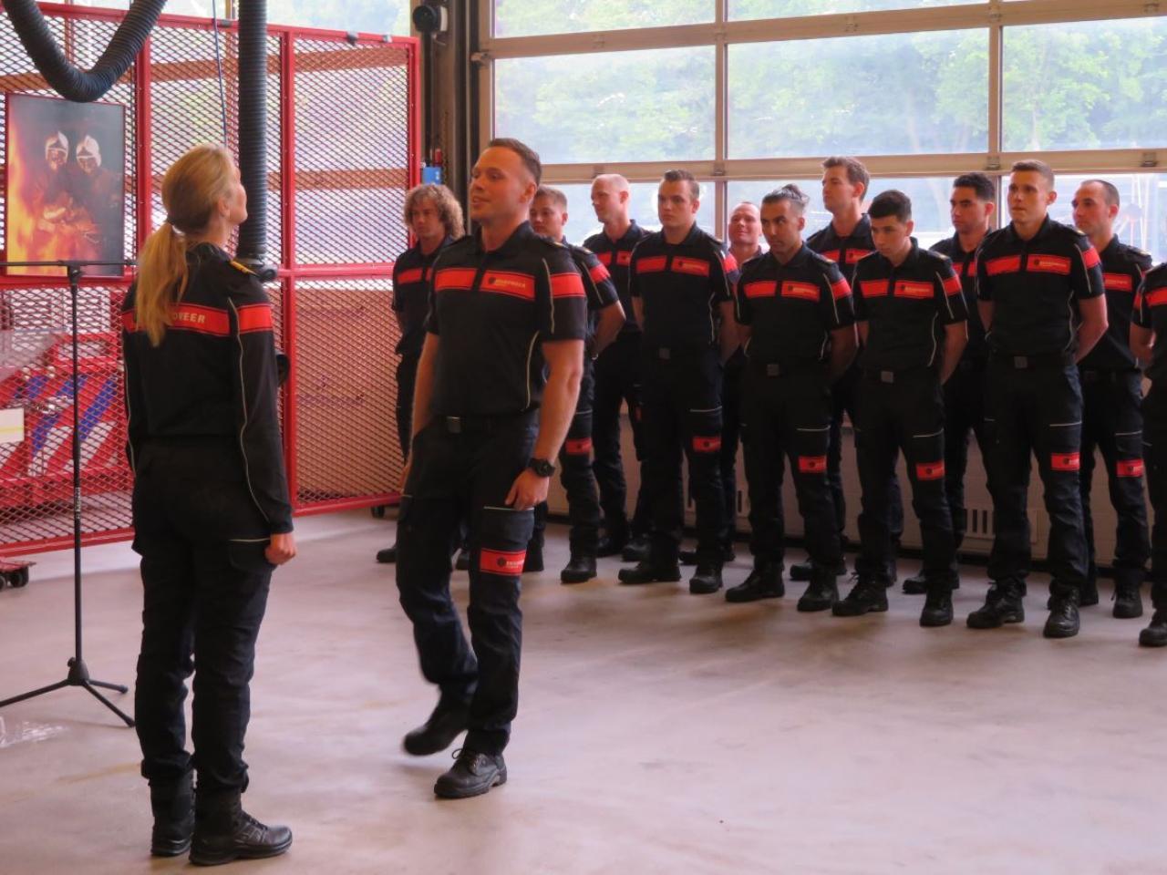 Beëdiging brandweerman Wesley