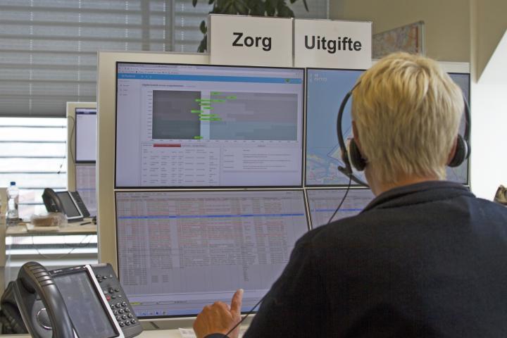 VRH-medewerker aan het werk met Ambuplanner