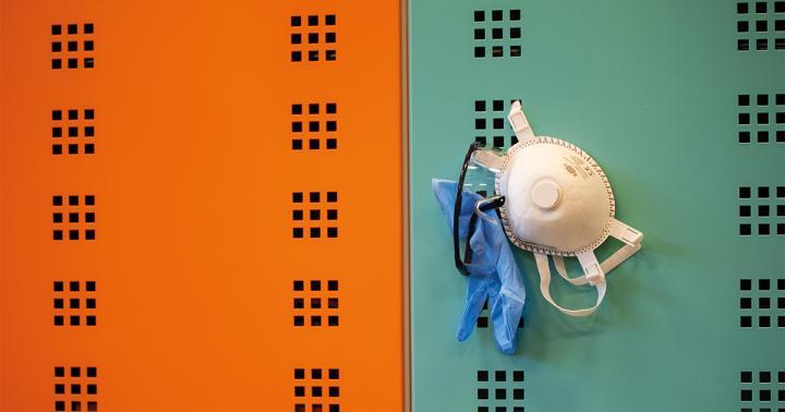 Lockers met persoonlijke beschermingsmiddelen